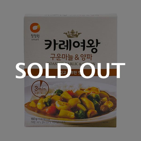 청정원 카레여왕 구운마늘양파 160g이식사