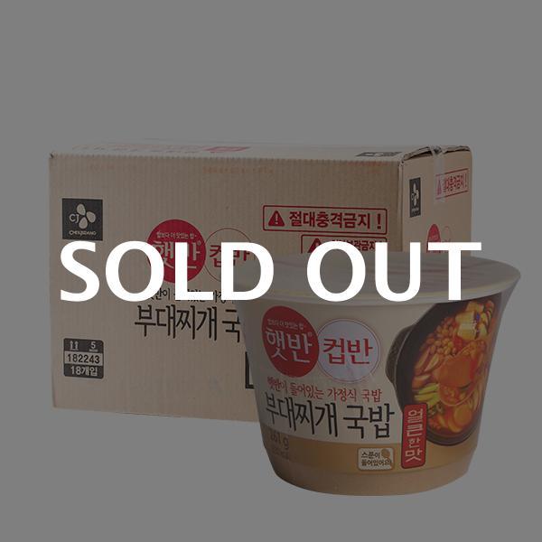 CJ 컵반 부대찌개국밥 261g 18입이식사