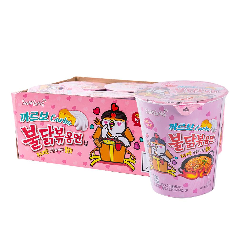 삼양 까르보불닭볶음면 소컵 80g 6입이식사