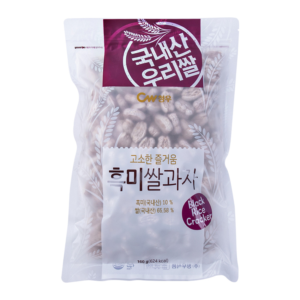 청우 흑미쌀과자 160g이식사