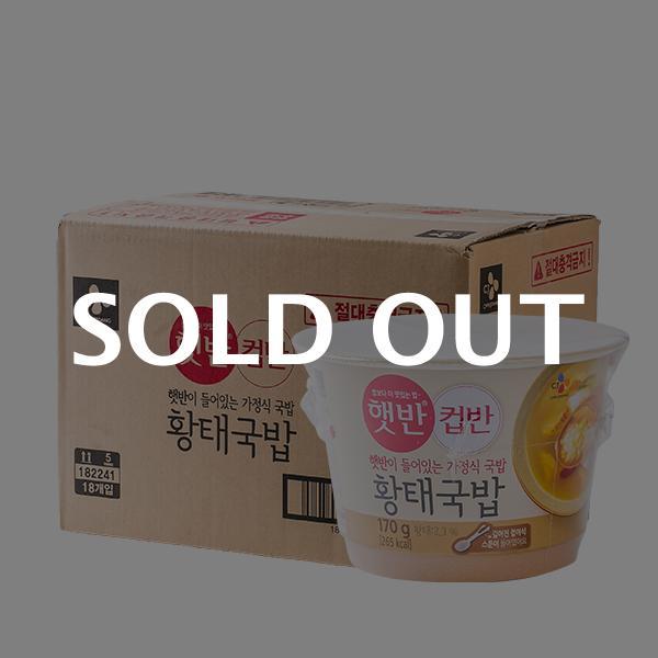 CJ 컵반 황태국밥 170g 18입이식사