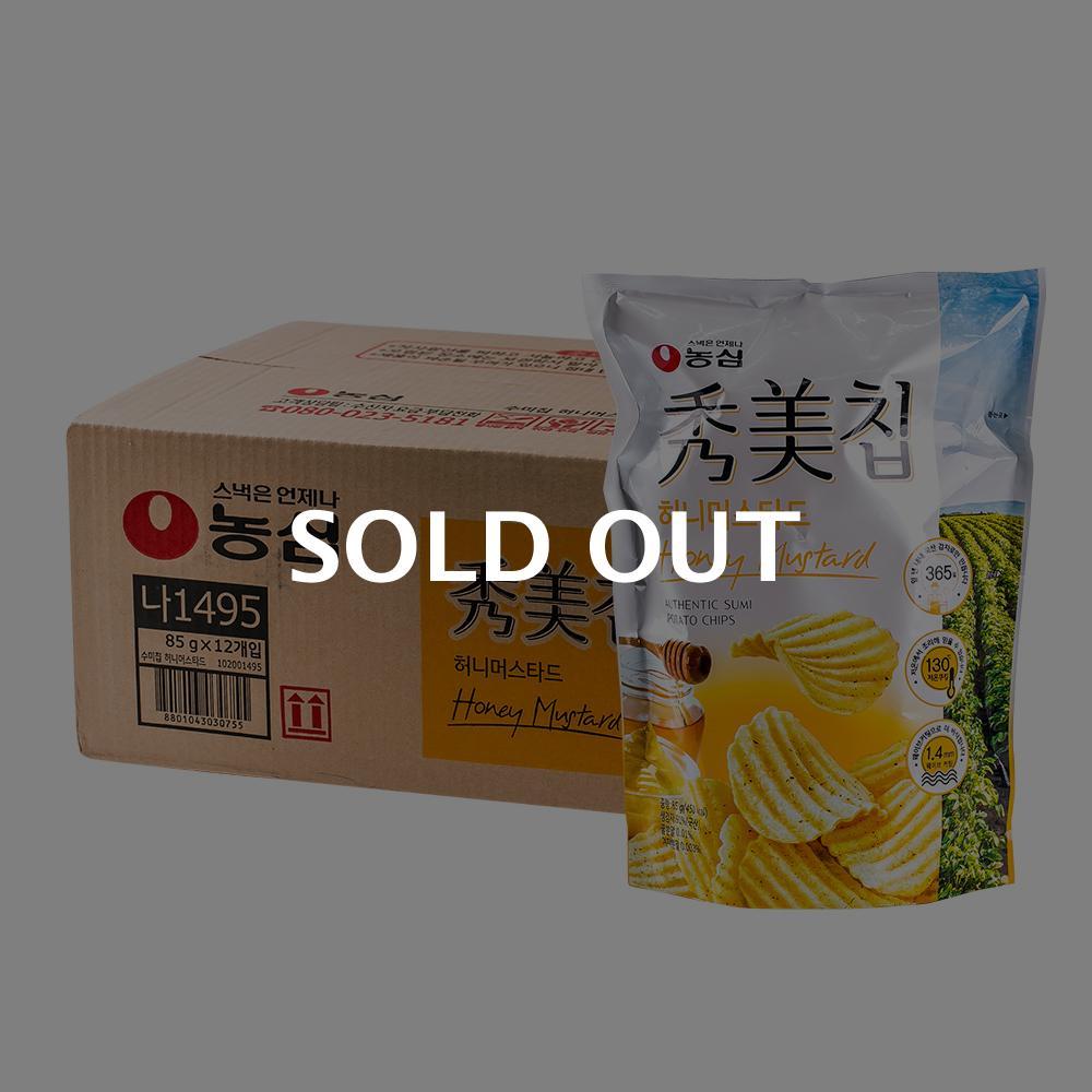 농심 수미칩 허니머스타드 85g 12입이식사