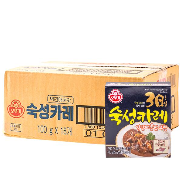 오뚜기 3일숙성카레 고형 약간매운맛 100g 18입이식사