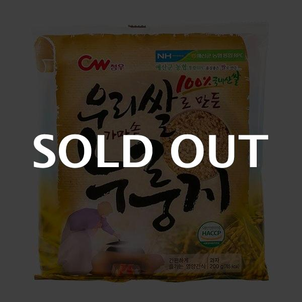 청우 우리쌀로만든 가마솥 누룽지 200g이식사