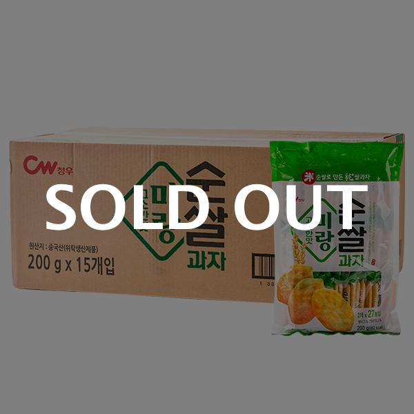청우 미랑 순쌀과자 고소한맛 200g 15입이식사