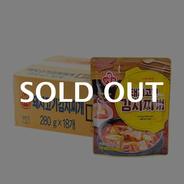 오뚜기 돼지고기김치찌개 280g 18입이식사