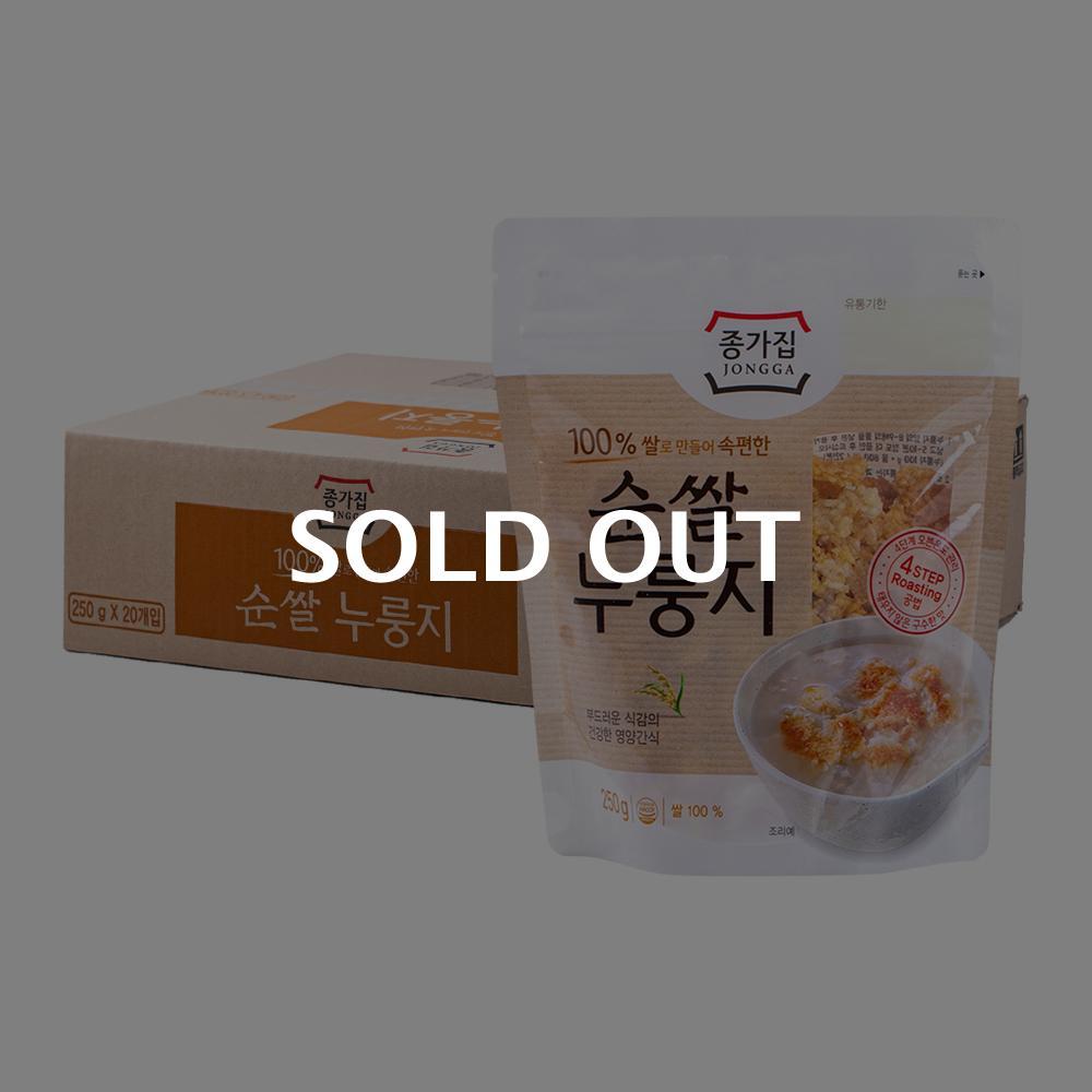 종가집 우리쌀 누룽지 250g 20입