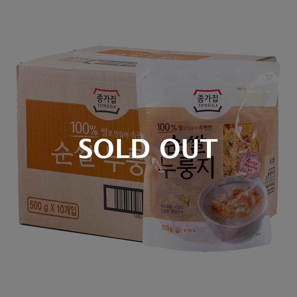 종가집 우리쌀 누룽지 500g 10입