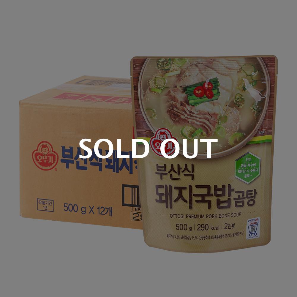 오뚜기 부산식 돼지국밥 곰탕 500g 12입