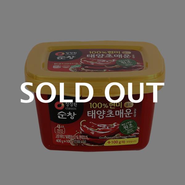 청정원 현미 매운고추장(용기) 400g+100g이식사