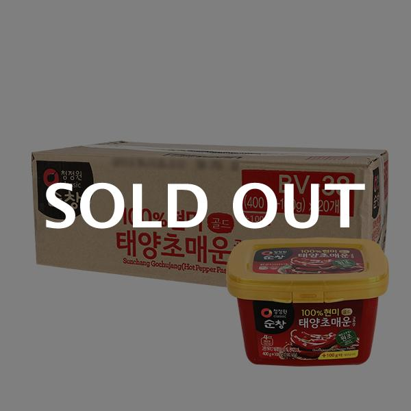 청정원 현미 매운고추장(용기) 400g+100g(20입)이식사