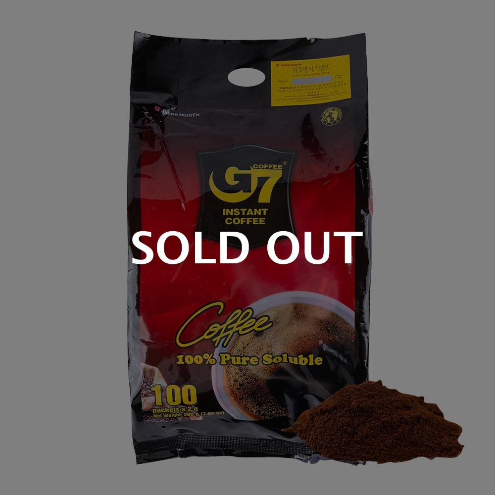 G7 블랙인스턴트커피 200g이식사