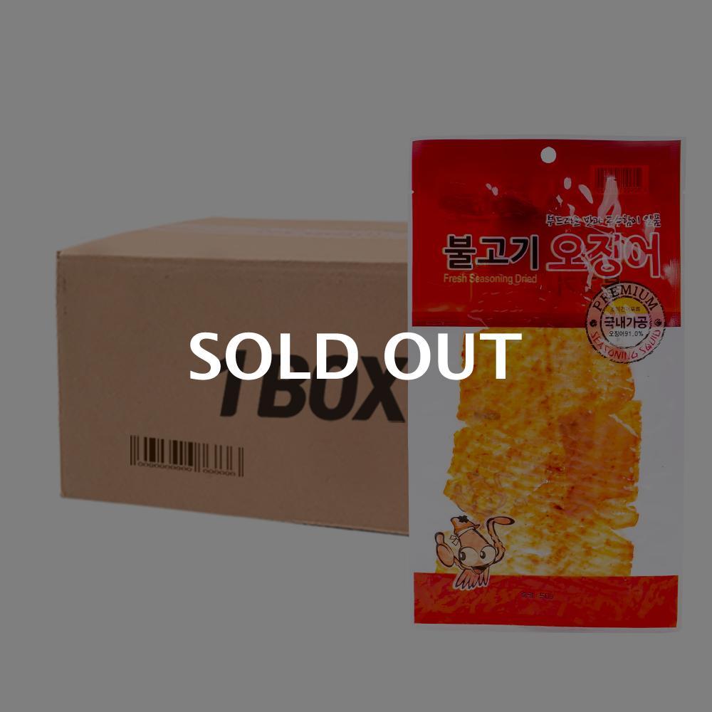 진주 불고기오징어 65g 100입 (박스)이식사