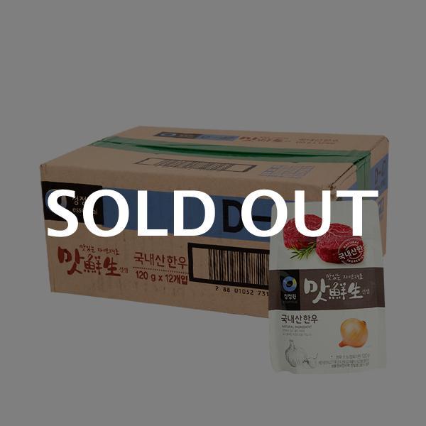 청정원 맛선생한우 파우치120g(12개)이식사