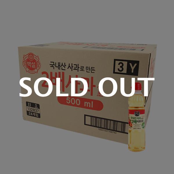 CJ 2배사과식초 500ml(24개)이식사