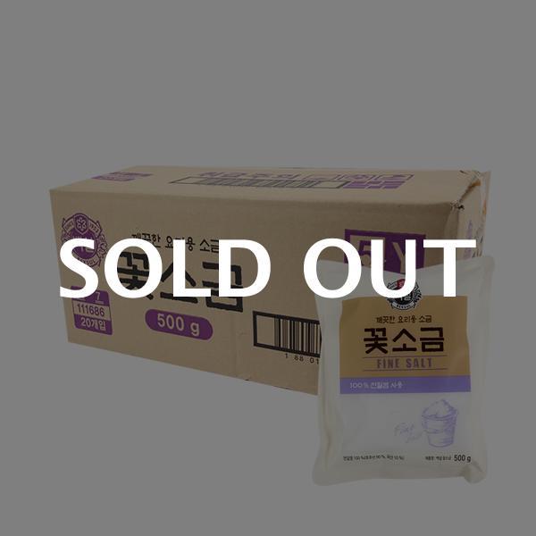CJ 꽃소금 500g(20개)이식사
