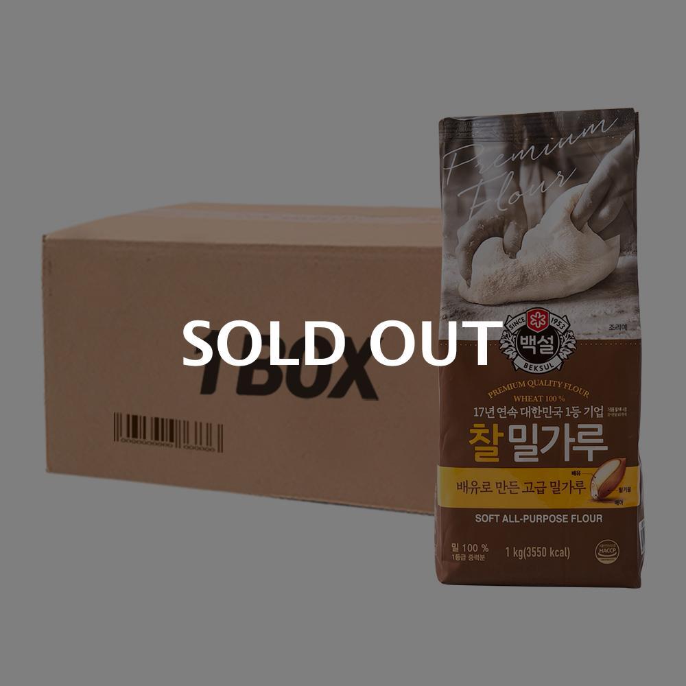 CJ 찰밀가루 1kg(10개)이식사