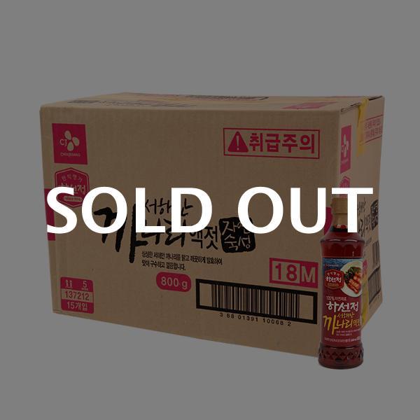 CJ 하선정까나리액젓 800g(15개)이식사