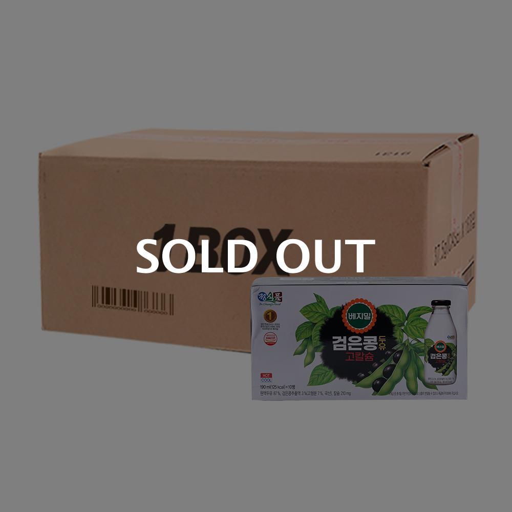 베지밀 검은콩(병) 190ml(10입)(4개)이식사