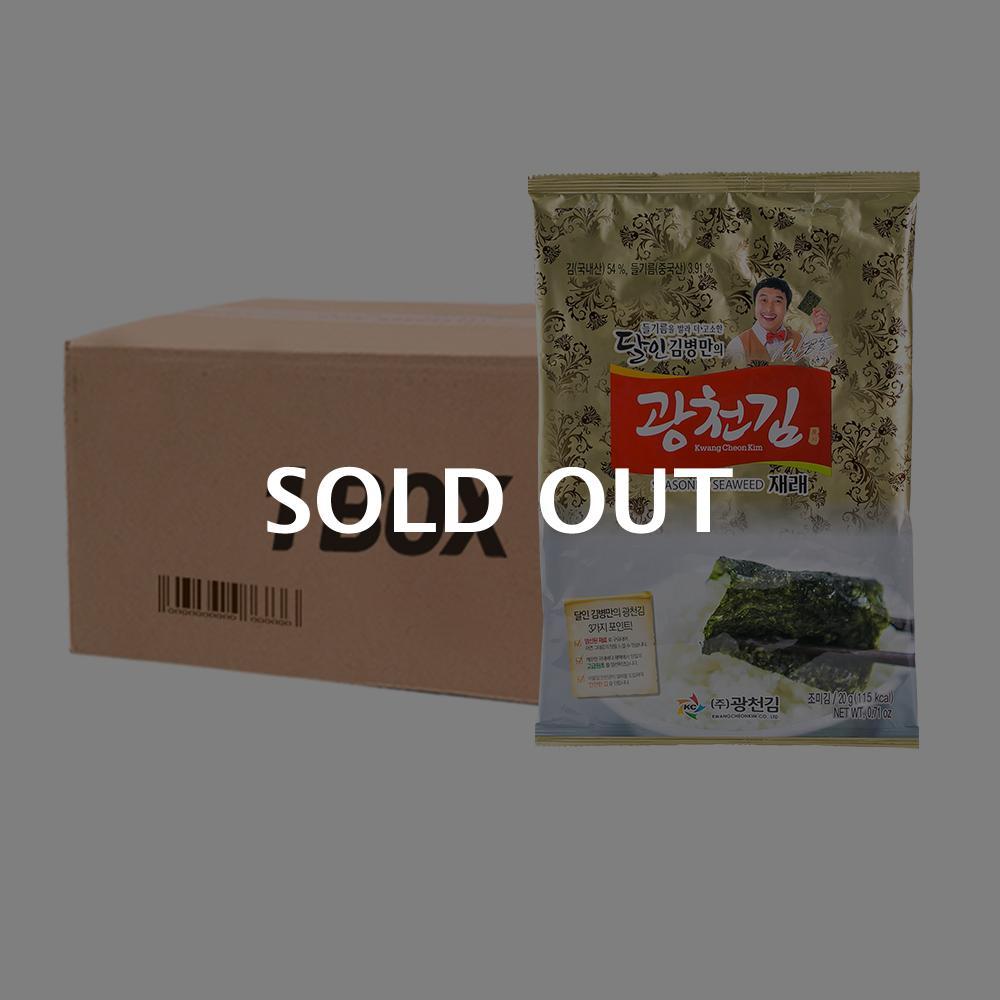 광천김 재래전장20g 3봉(12개)이식사
