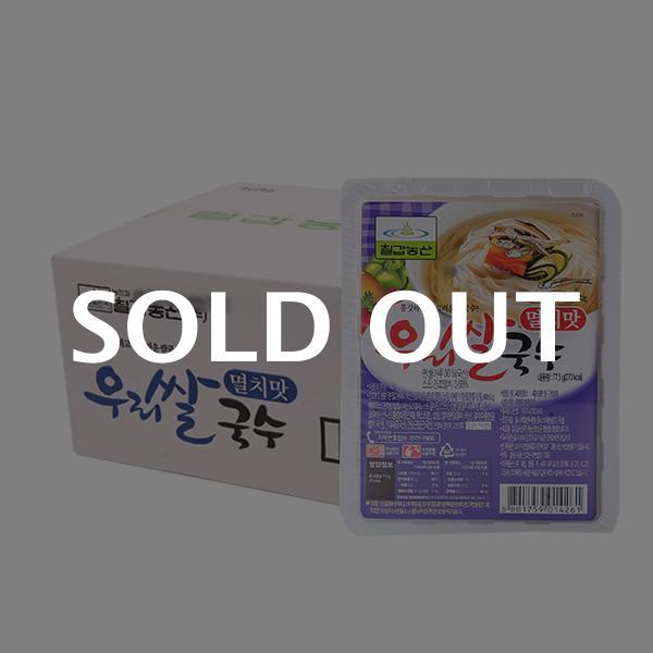 칠갑 우리쌀국수 멸치맛 77.5g 18입이식사