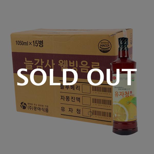 광야 유자청골드1050ml(15개)이식사