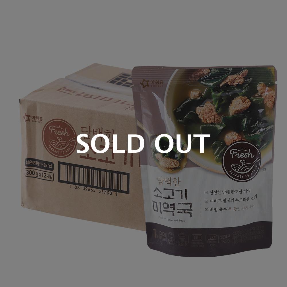 아워홈 소고기미역국300g(12개)이식사