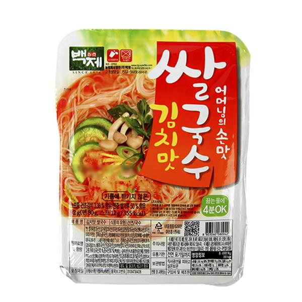 백제 김치맛 쌀국수92g이식사