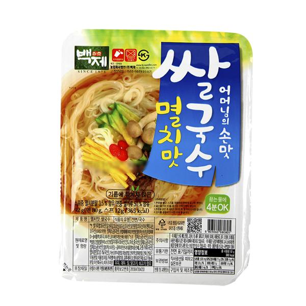 백제 멸치맛 쌀국수92g이식사