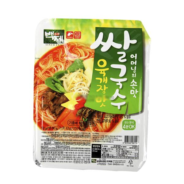 백제 육개장맛 쌀국수92g이식사