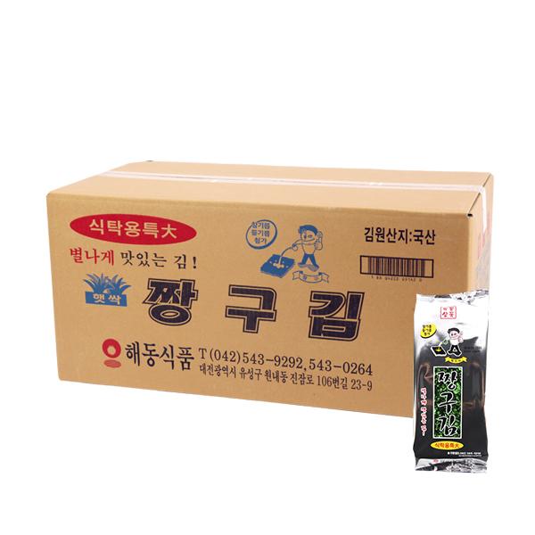 해동식품 짱구 식탁김 특대40g(20개)이식사