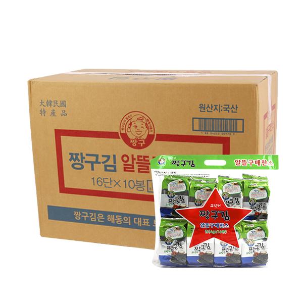 해동식품 파래 짱구4g 16봉(10개)이식사