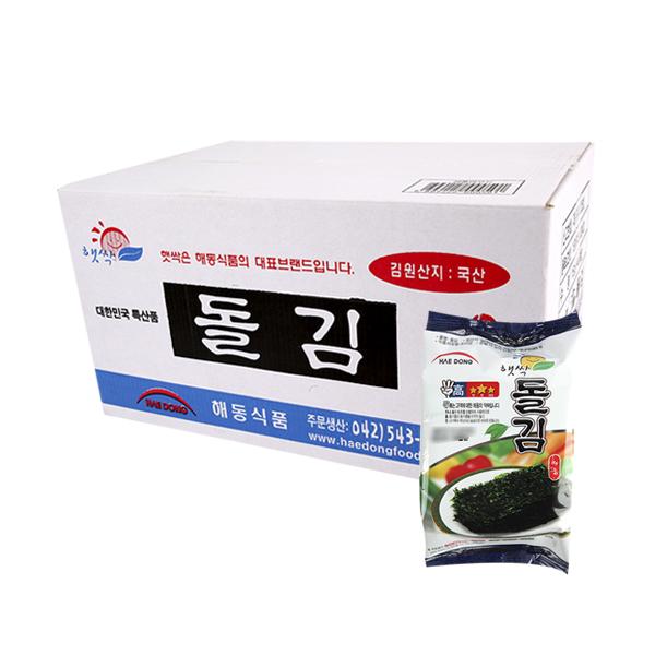 해동식품 햇싹돌김15g(40개)이식사