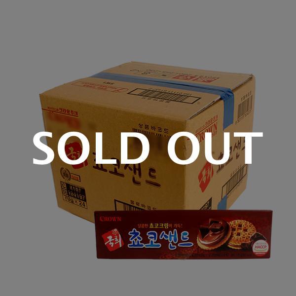 크라운 국희초코샌드70g(24개)이식사