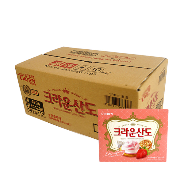 크라운 딸기크림치즈산도161g(12개)이식사