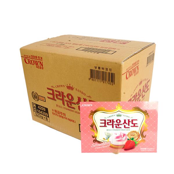 크라운 딸기크림치즈산도323g(8개)이식사
