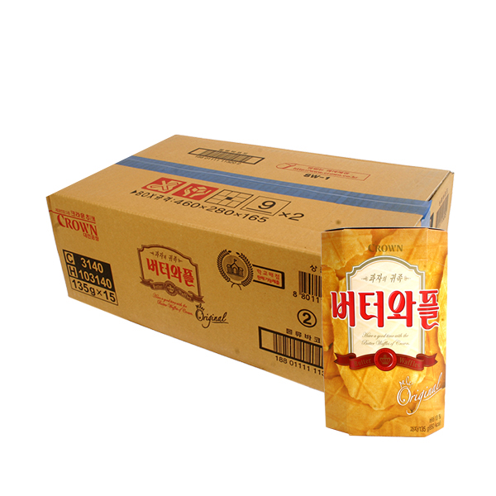 크라운 버터와플135g(15개)이식사