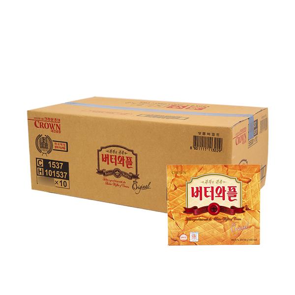크라운 버터와플316g(10개)이식사