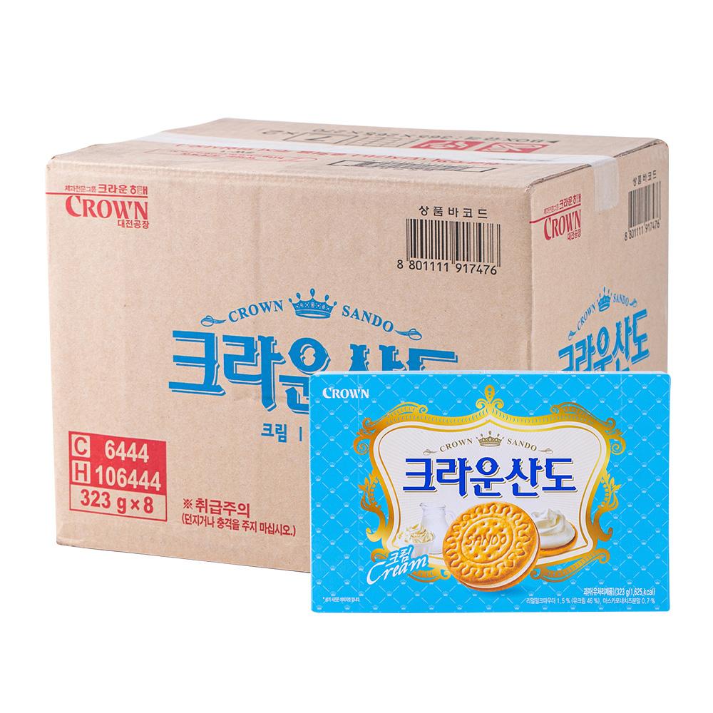 크라운 스윗밀크산도323g(8개)이식사