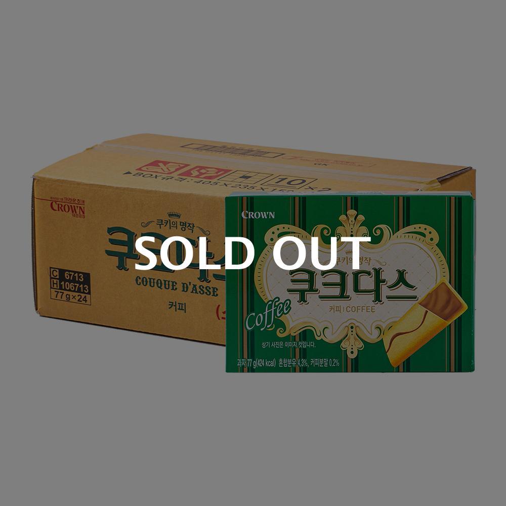 크라운 쿠크다스 커피72g(24개)이식사