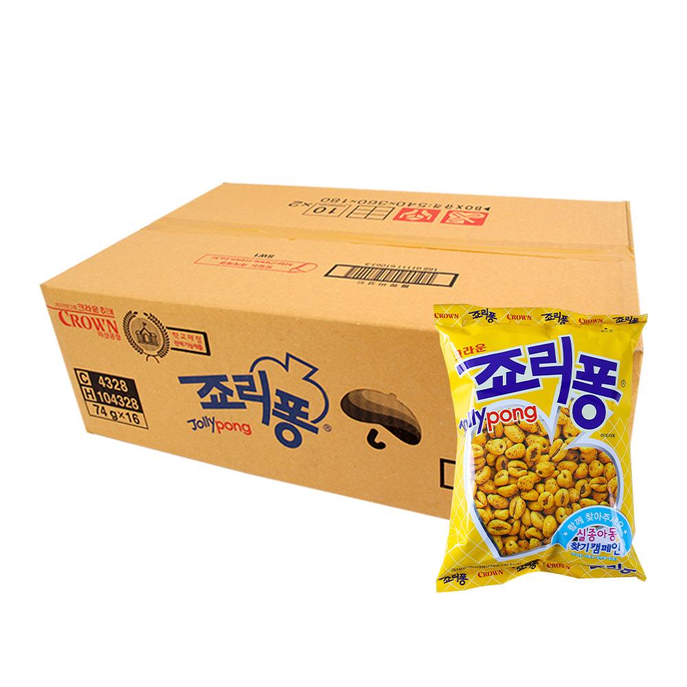 크라운 죠리퐁74g(16개)이식사