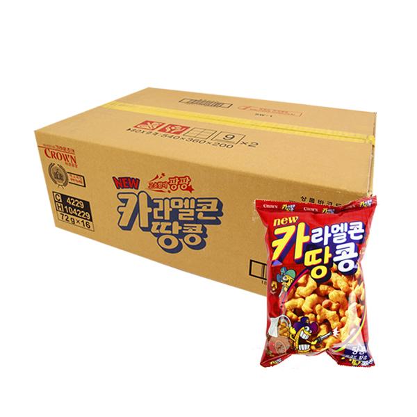 크라운 카라멜콘땅콩72g(16개)이식사