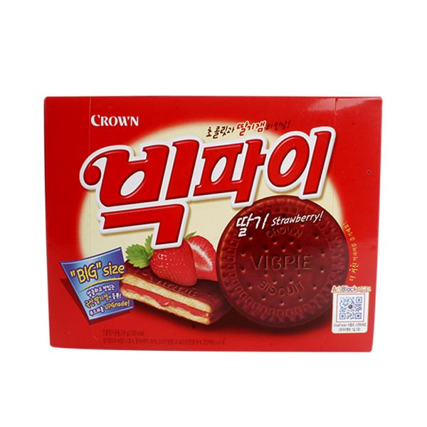 크라운 빅파이딸기216g이식사