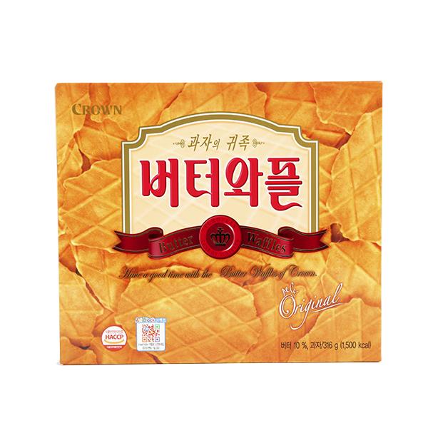 크라운 버터와플316g이식사