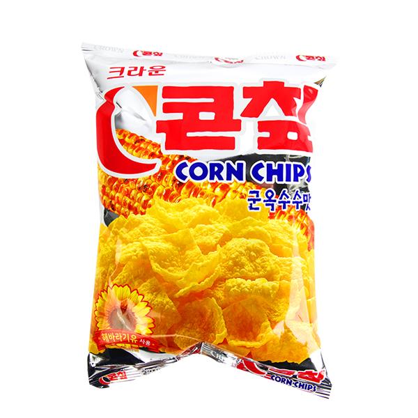 크라운 콘칩 옥수수맛70g이식사