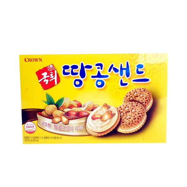 크라운 국희땅콩샌드372g이식사