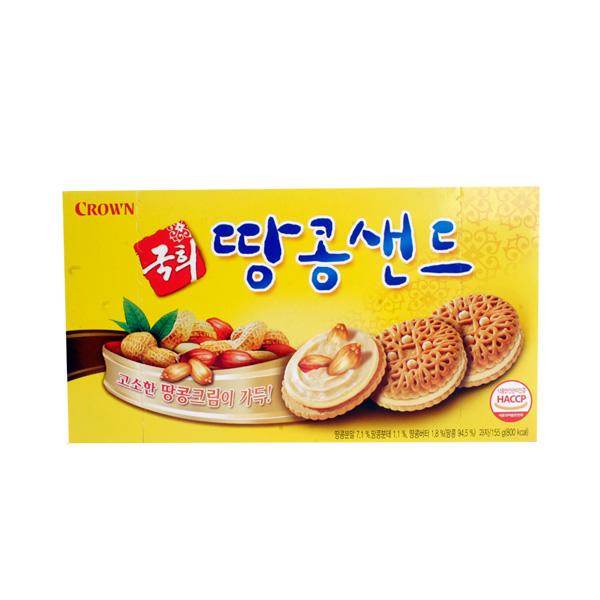 크라운 국희땅콩샌드155g이식사
