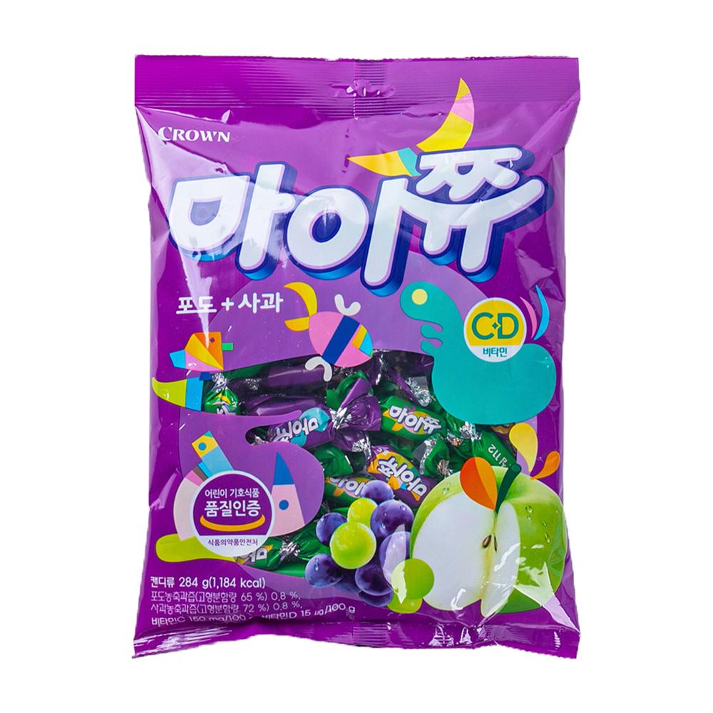 크라운 마이쮸포도+사과328g이식사