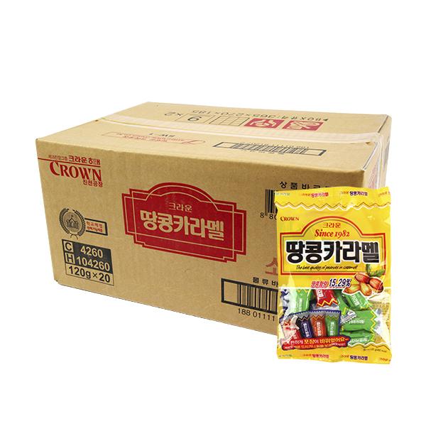 크라운 땅콩카라멜120g(20개)이식사