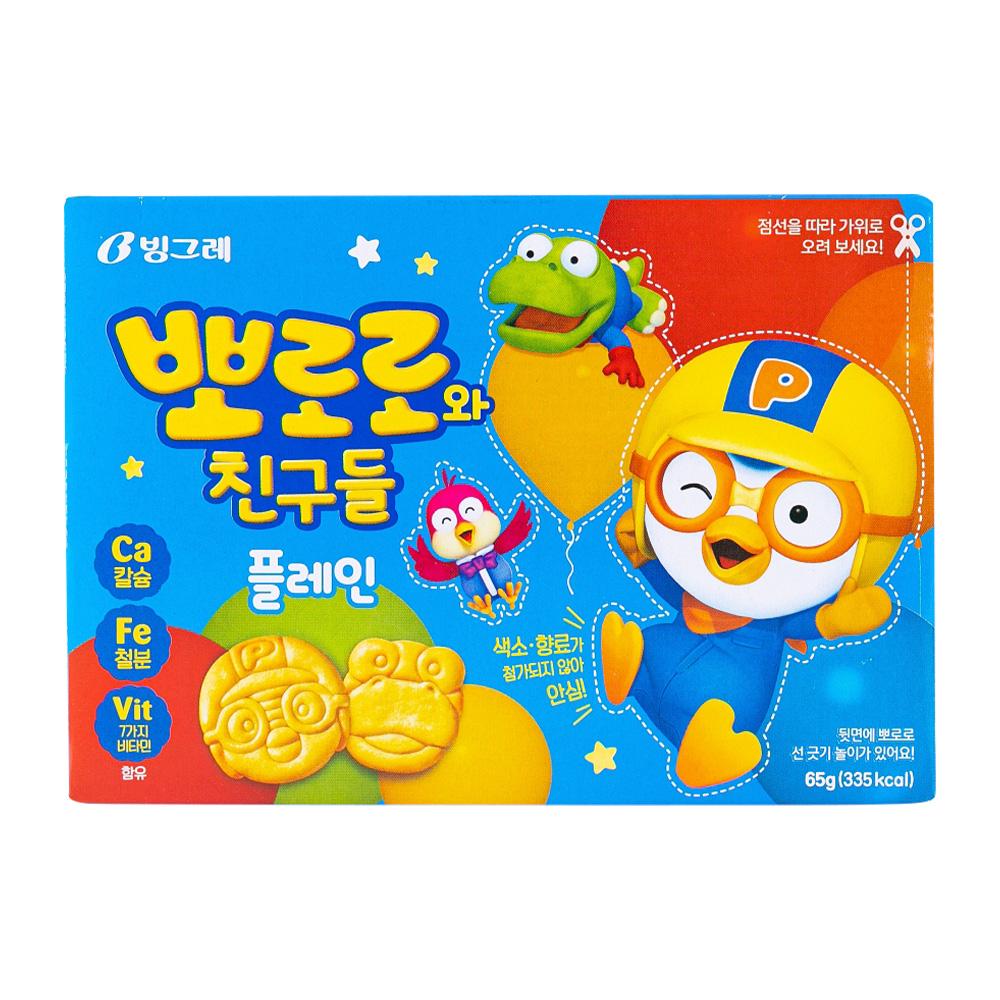 빙그레 뽀로로와친구들 플레인 65g이식사